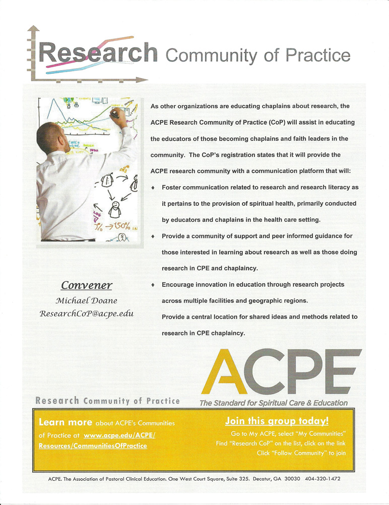 ACPE Research Community of Practice